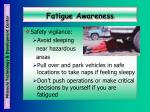 fatigue awareness41