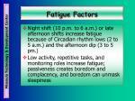 fatigue factors22