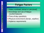 fatigue factors25
