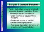 fatigue immune function
