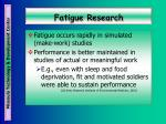 fatigue research