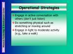 operational strategies38