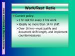 work rest ratio