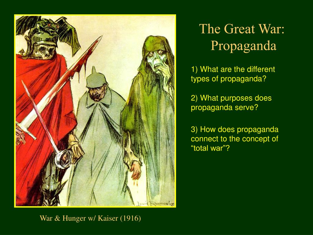 the different types of propaganda in society Common examples of propaganda building a mental image - a politician will present an image of what the world would be like with immigration or crime so that the voters will think of that image and believe that voting for him will reduce that threat.