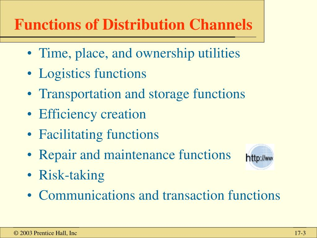 PPT - Value Chain Management: Channels of Distribution