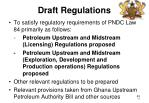 draft regulations