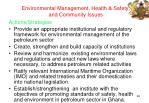 environmental management health safety and community issues46