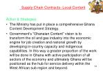 supply chain contracts local content
