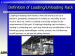 definition of loading unloading rack28