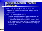 manmade structures preamble clarification