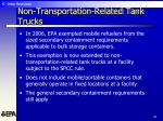 non transportation related tank trucks