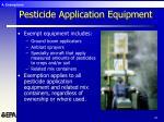 pesticide application equipment
