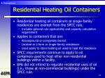 residential heating oil containers