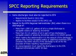 spcc reporting requirements