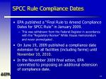 spcc rule compliance dates