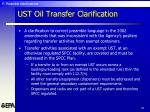 ust oil transfer clarification