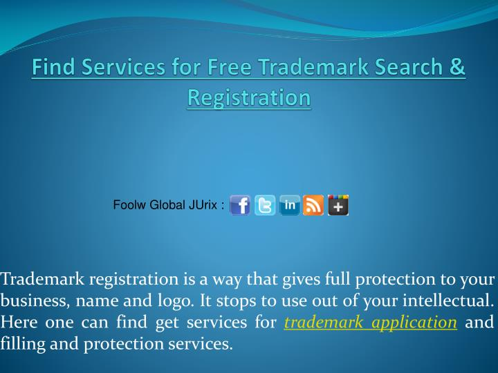 find services for free trademark search registration n.