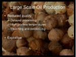 large scale oil production