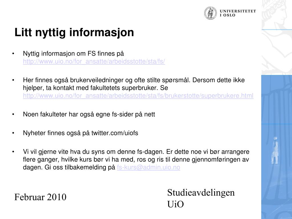 Studieavdelingen UiO