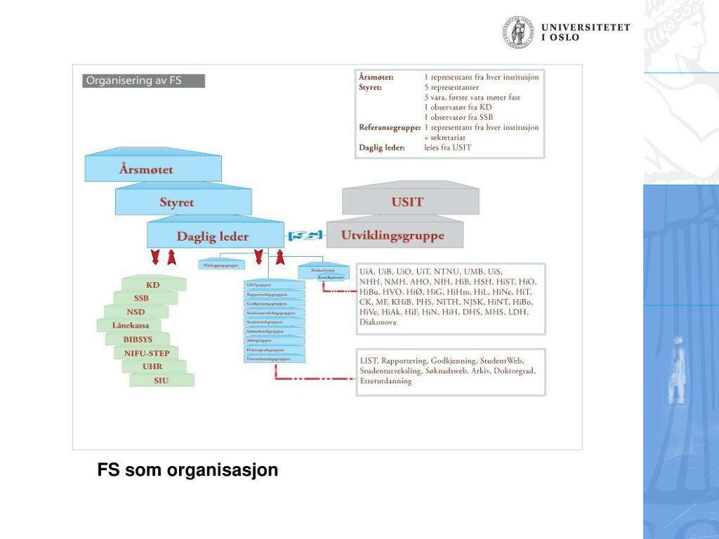 FS som organisasjon