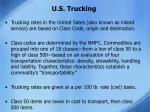 u s trucking