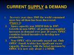 current supply demand