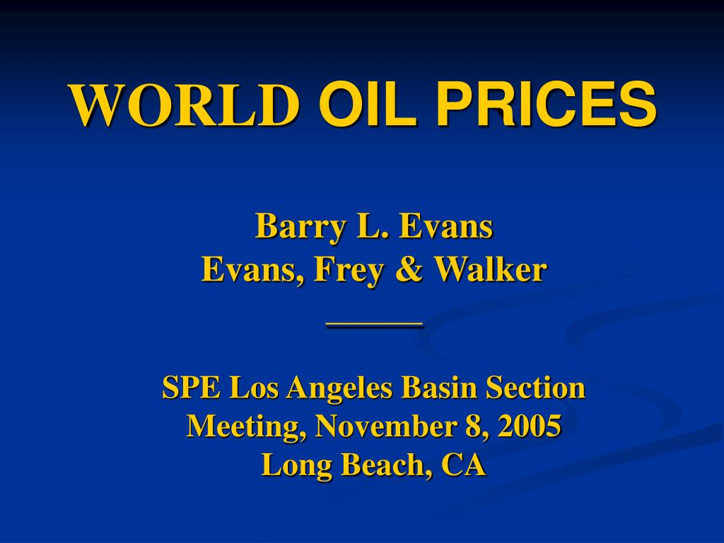 world oil prices l.