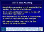 module base mounting