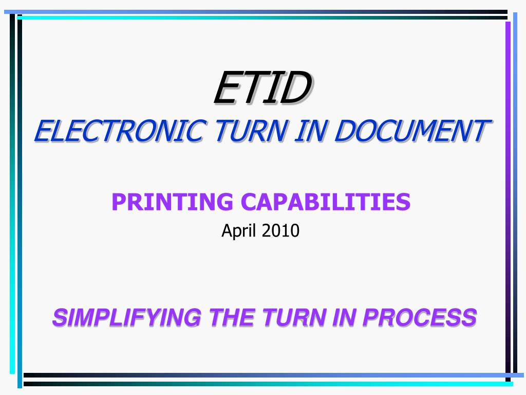 etid electronic turn in document l.