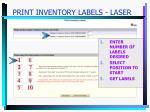 print inventory labels laser18