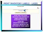 print inventory labels laser19