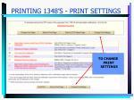 printing 1348 s print settings