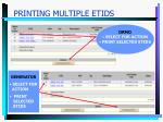 printing multiple etids