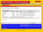 prepare shipment service comparison