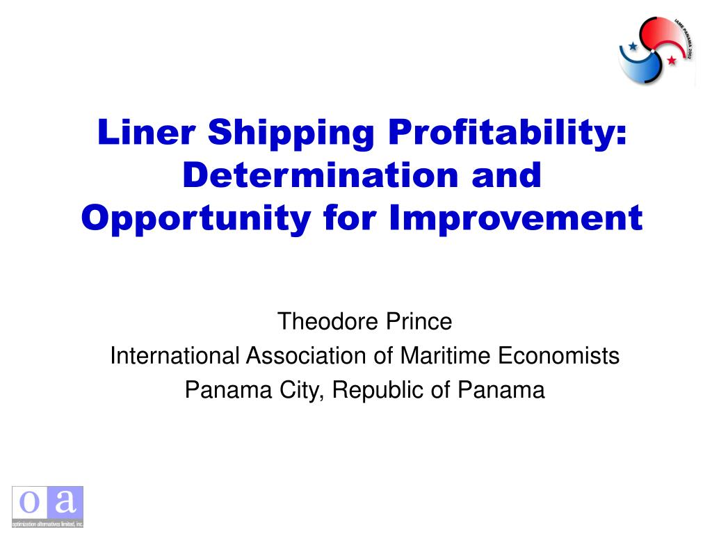 liner shipping profitability determination and opportunity for improvement l.