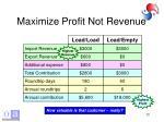 maximize profit not revenue