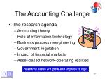 the accounting challenge18