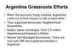 argentina grassroots efforts