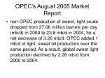 opec s august 2005 market report
