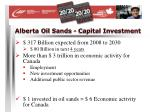 alberta oil sands capital investment