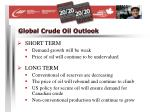 global crude oil outlook