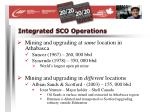 integrated sco operations