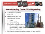 manufacturing crude oil upgrading