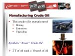 manufacturing crude oil22