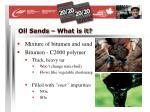 oil sands what is it