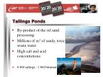 tailings ponds