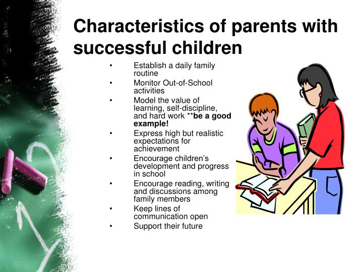 parental involvement in their childs education essay Successful parent involvement can be defined as the active, ongoing participation of a parent or primary caregiver in the education of his or her child parents can demonstrate involvement at home-by reading with their children, helping with homework, and discussing school events-or at school, by attending functions or volunteering in classrooms.