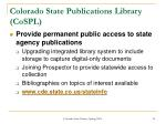 colorado state publications library cospl