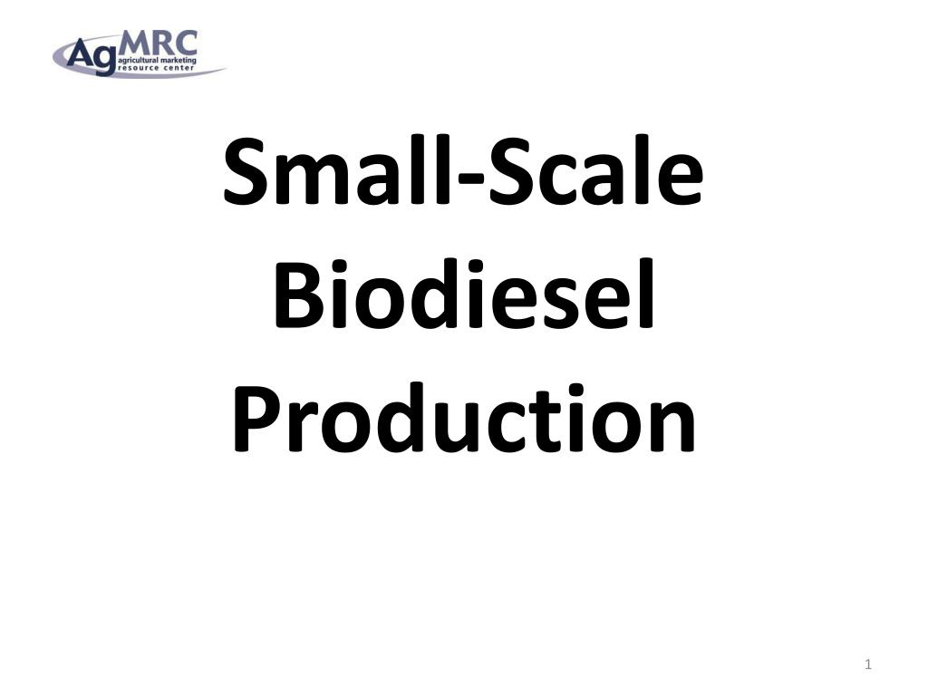 small scale biodiesel production l.