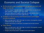economic and societal collapse